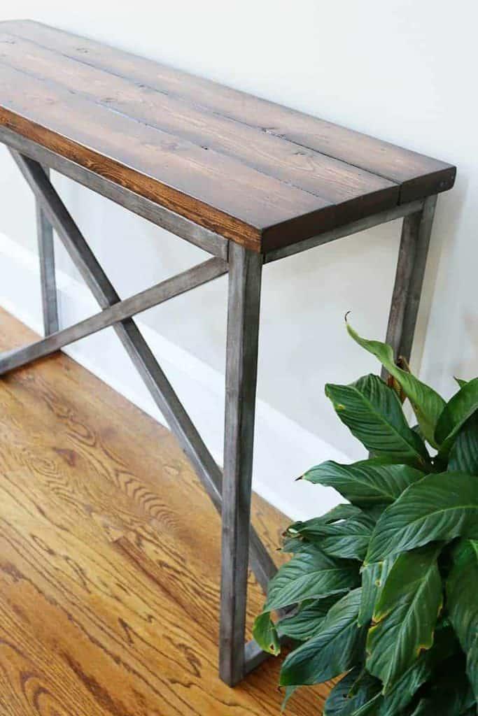 X-Frame DIY Console Table