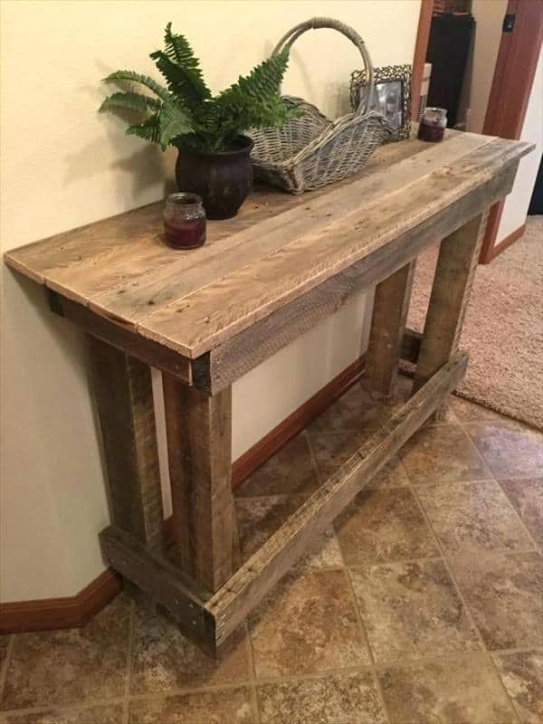 15 Amazing and Cheap DIY Console Table Plans & Ideas