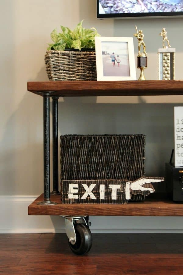 DIY Console Table on Casters