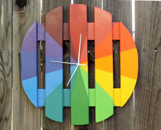 15-Colorful-Outdoor-Wood-Clock