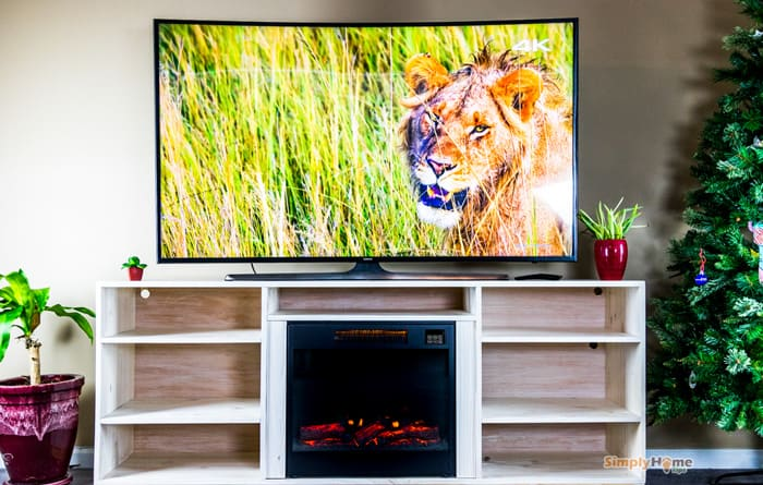 25-Simple-TV-Stand-with-Fireplace-Insert