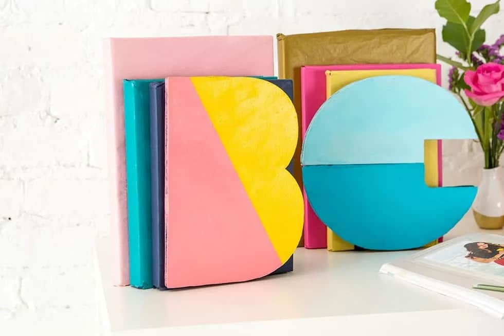 4-Color-Block-Bookends