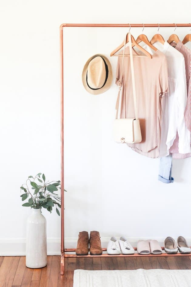 10-Copper-Clothing-Rack