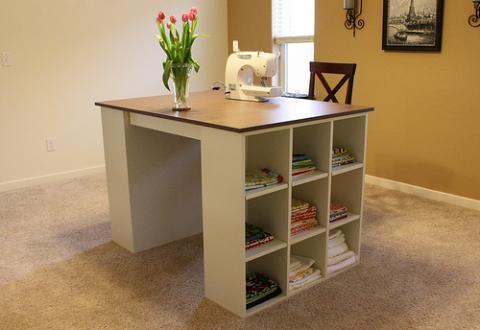 2-Drawer-Slides-Craft-Table