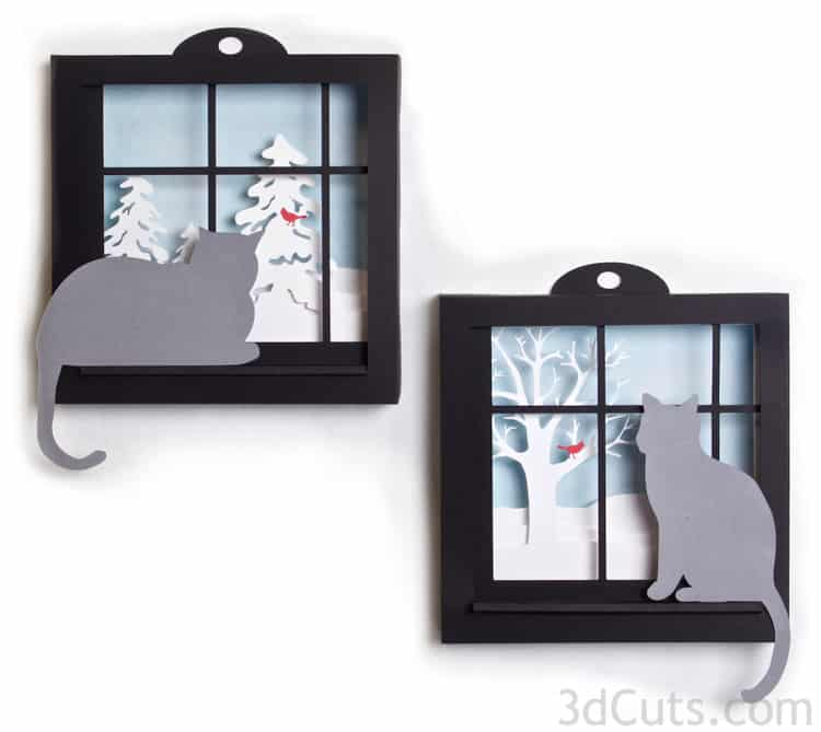 21-5-Layer-Kitty-Cat-Silhouette-Shadow-Box