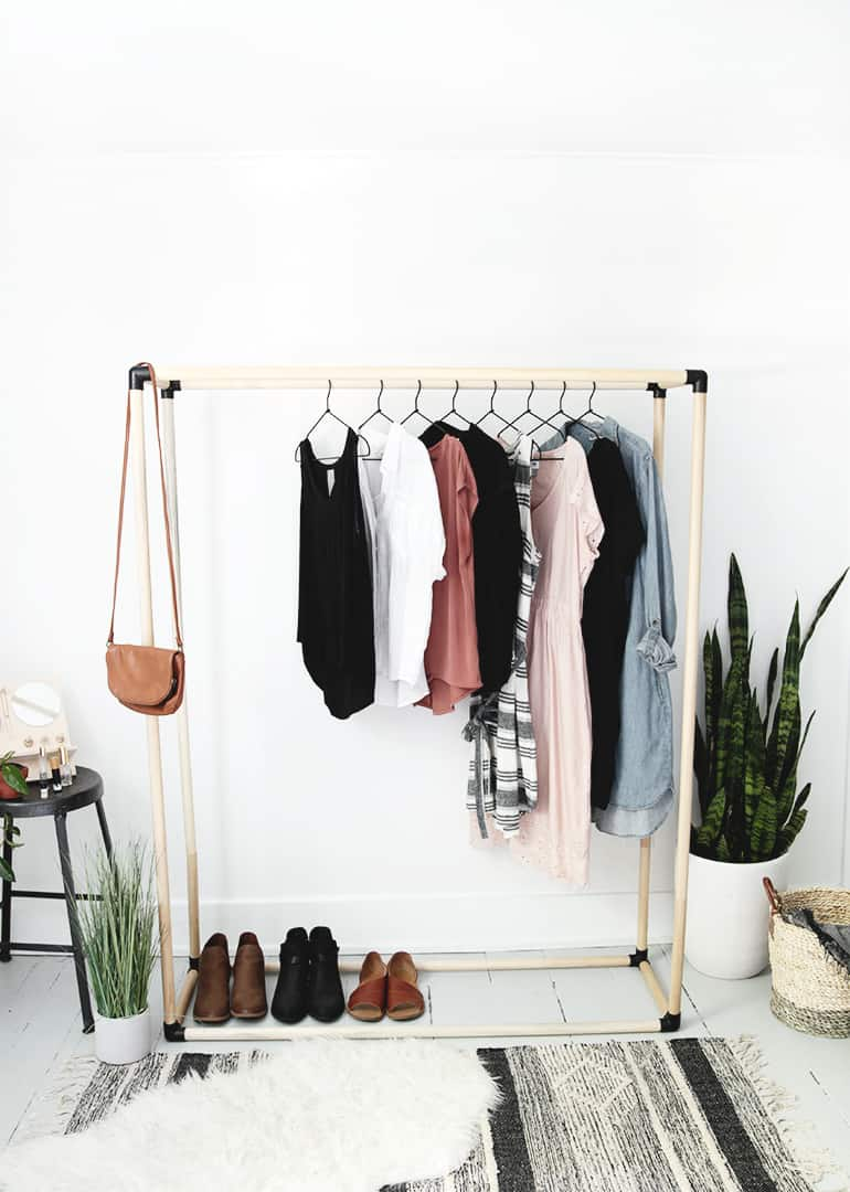 22 DIY Clothes Racks in 2021 - Organize Your Closet