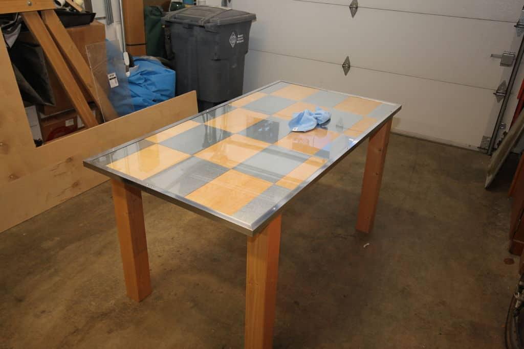 Simple Birch and Aluminum Desk