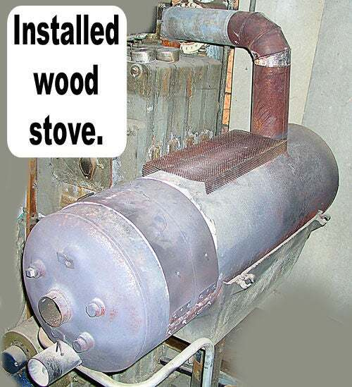Old Hot Water Heater Into Wood-Burning Stove