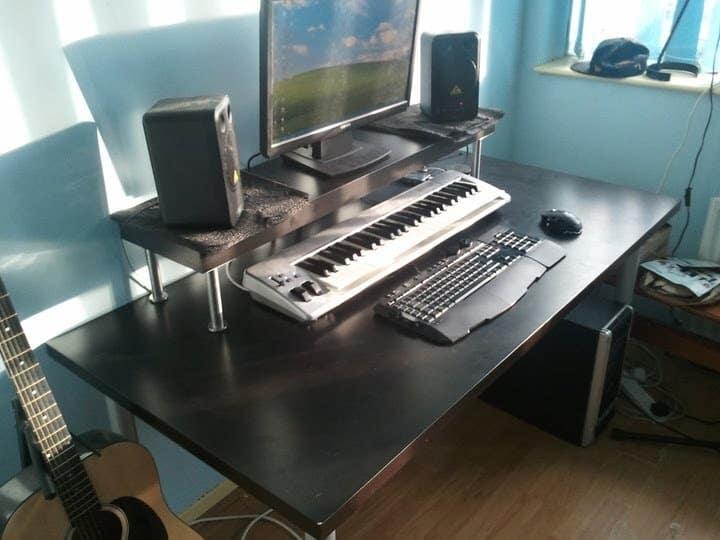 Ikea Upcycled Home Studio Desk