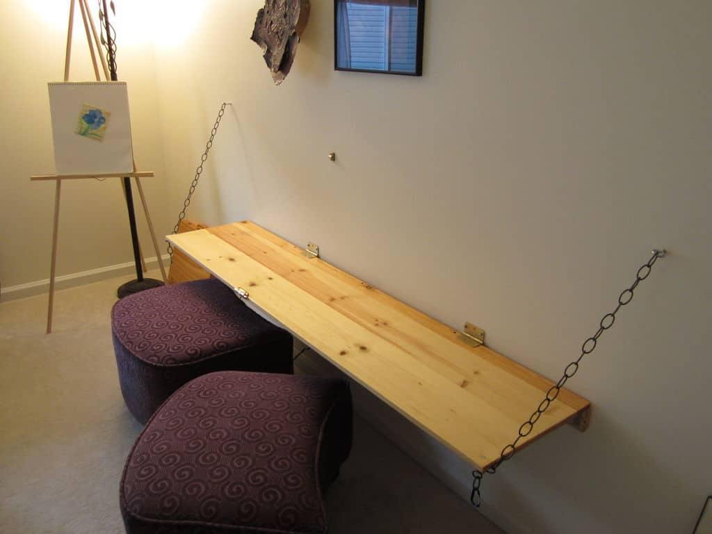 Dual Purpose Murphy-Style Desk and Chalkboard