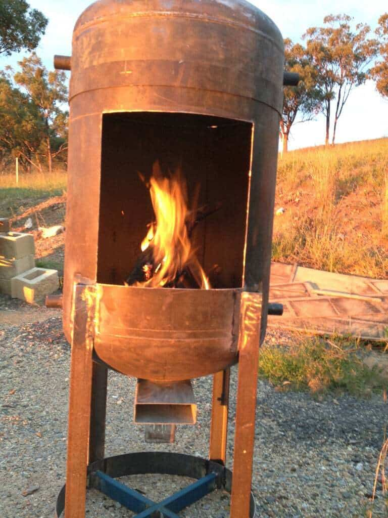 Electric Water Tank Vertical Wood Stove