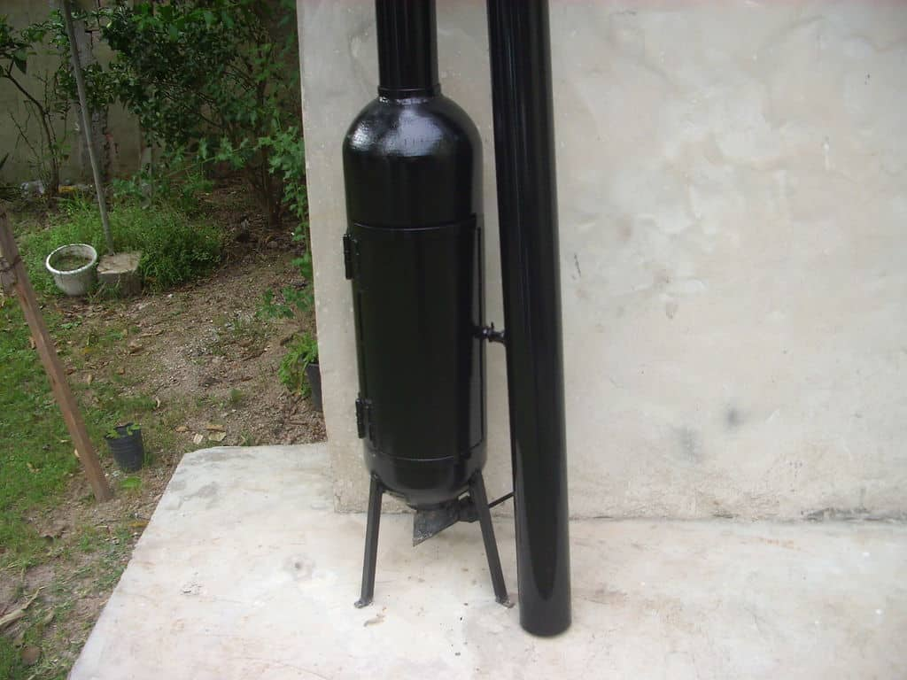 Reclaimed CNG Cylinder Stove