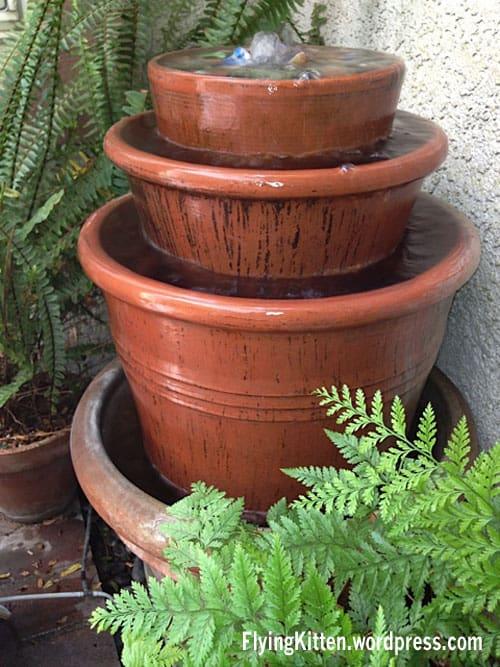 Clay Planter Fountain