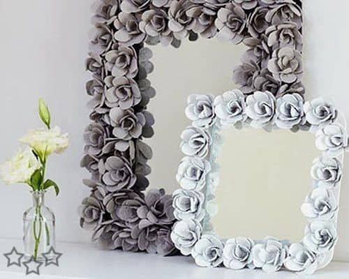 Egg Carton Flower Frame