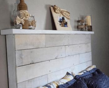 Headboard with a Shelf
