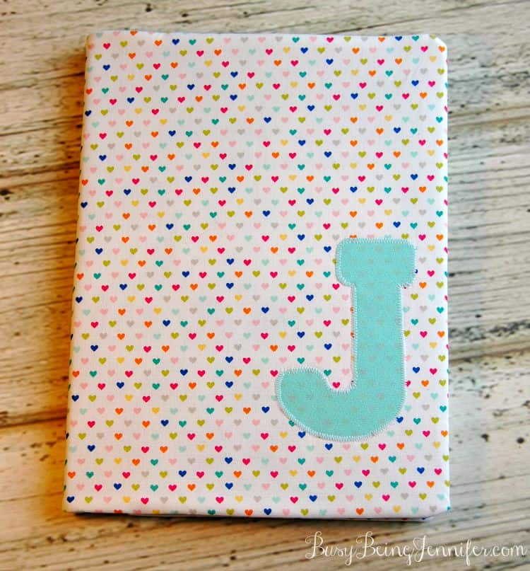 Initialed Fabric Notebook Cover