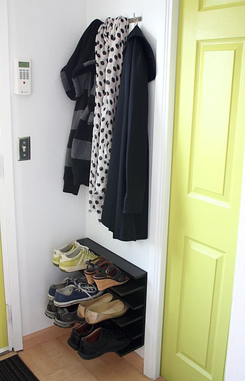 Tight Space Shoe Rack