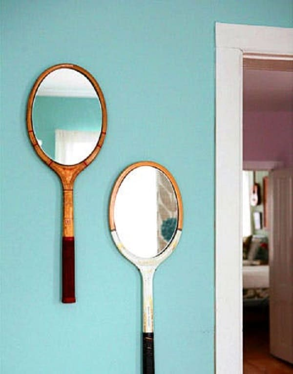 Vintage Tennis Racket Mirror Frames
