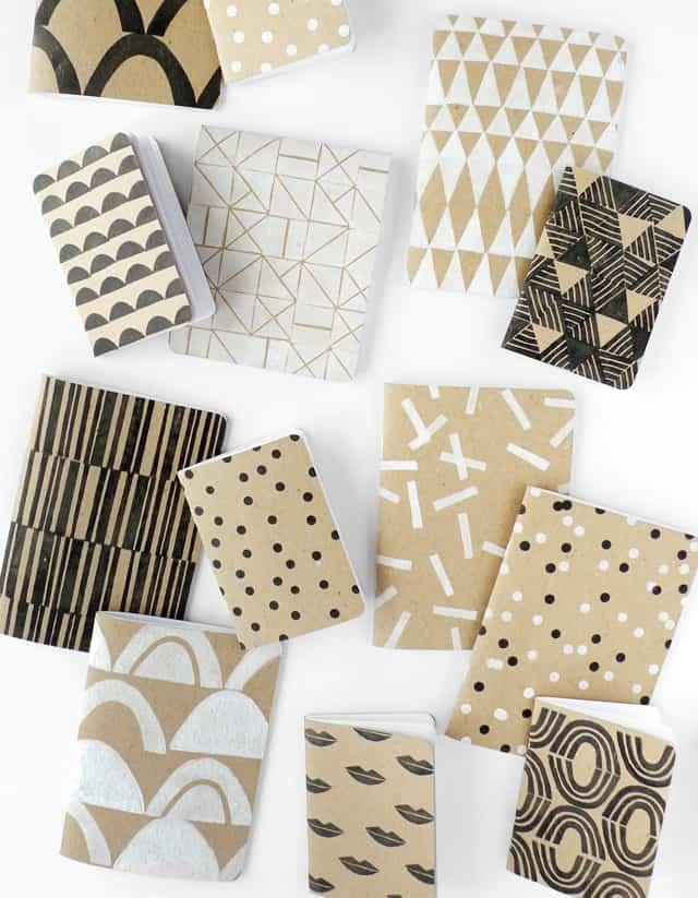 DIY Patterned Notebooks