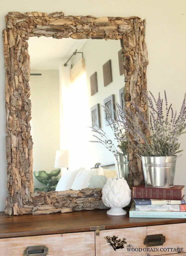 Easy Driftwood Mirror Frame