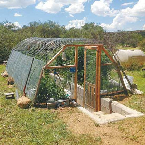 """""""In-Ground"""" Greenhouse"""