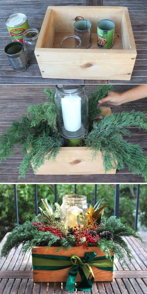 10-Minute Christmas Centerpiece Box