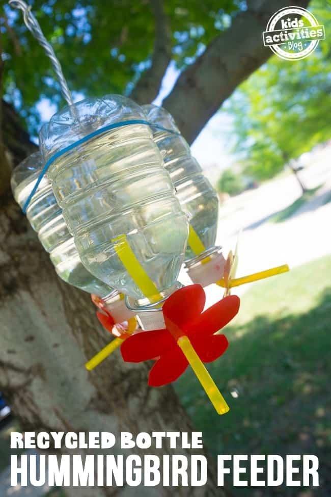 Powerade Bottle Hummingbird Feeder