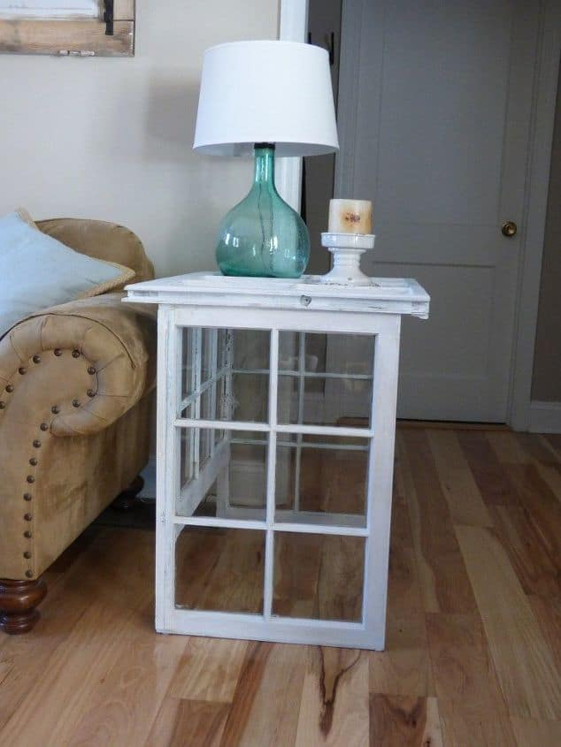 Upcycled Old Windows Side Table