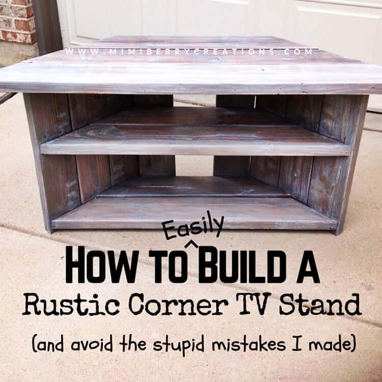 Easy Rustic Corner TV Stand