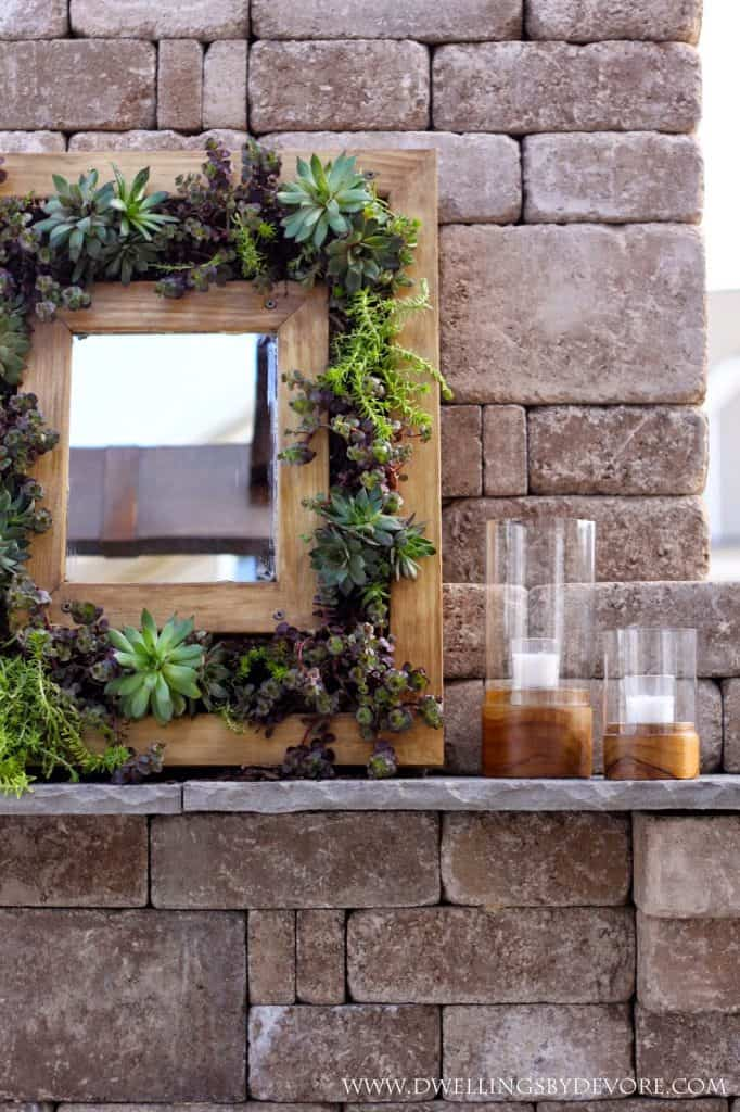 Succulents Mirror Frame