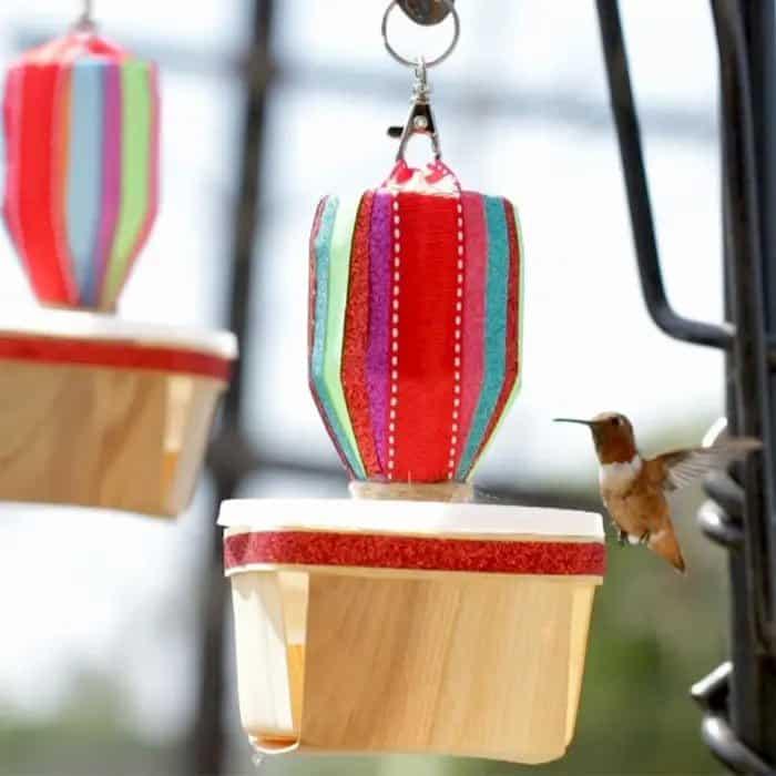 Vibrant Rainbow Hummingbird Feeder