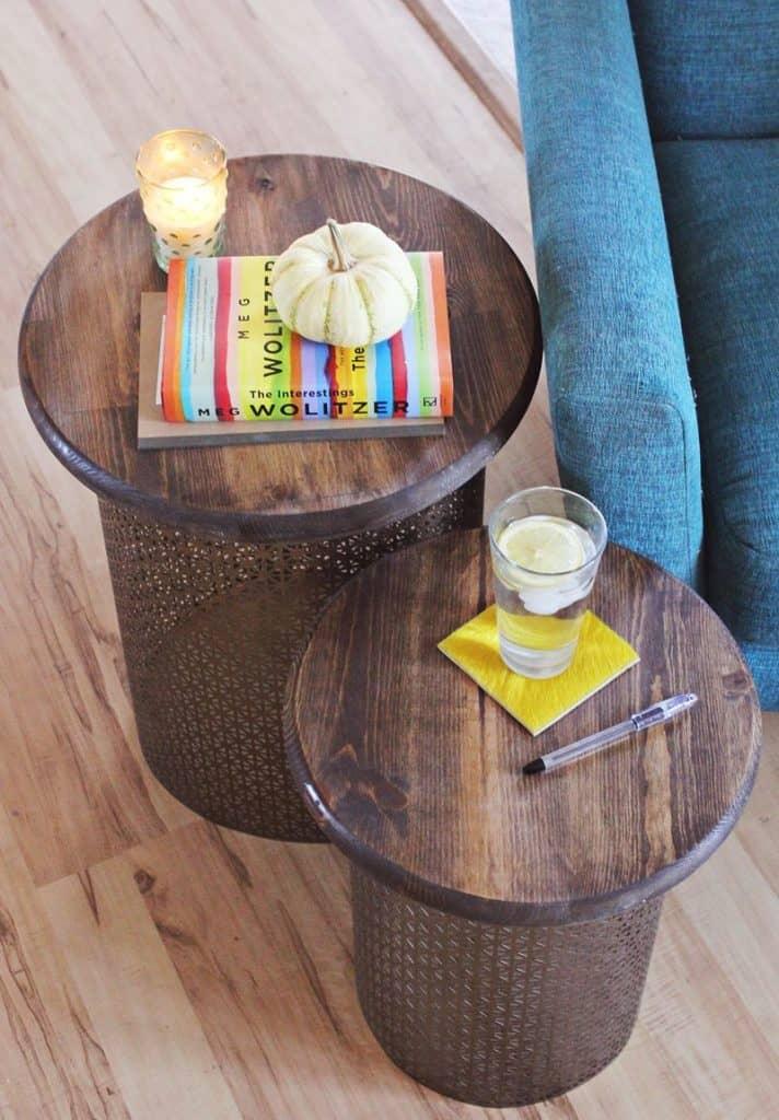 DIY Brass Nesting Tables