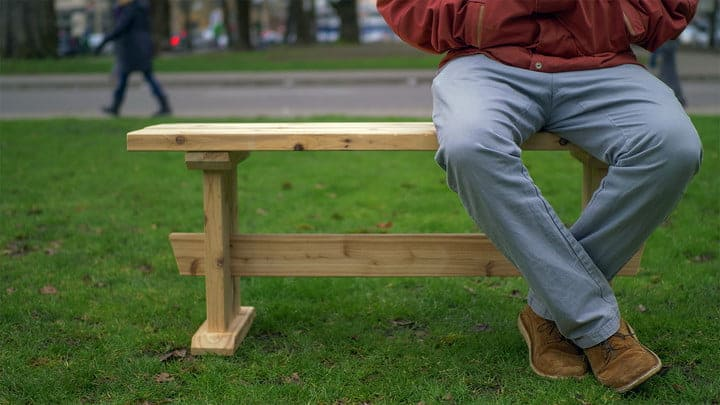 Three Board Bench