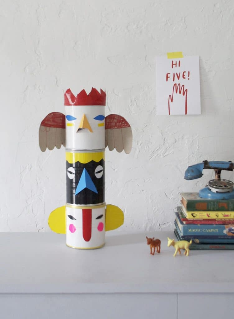 Tin Can Totem Pole Bank