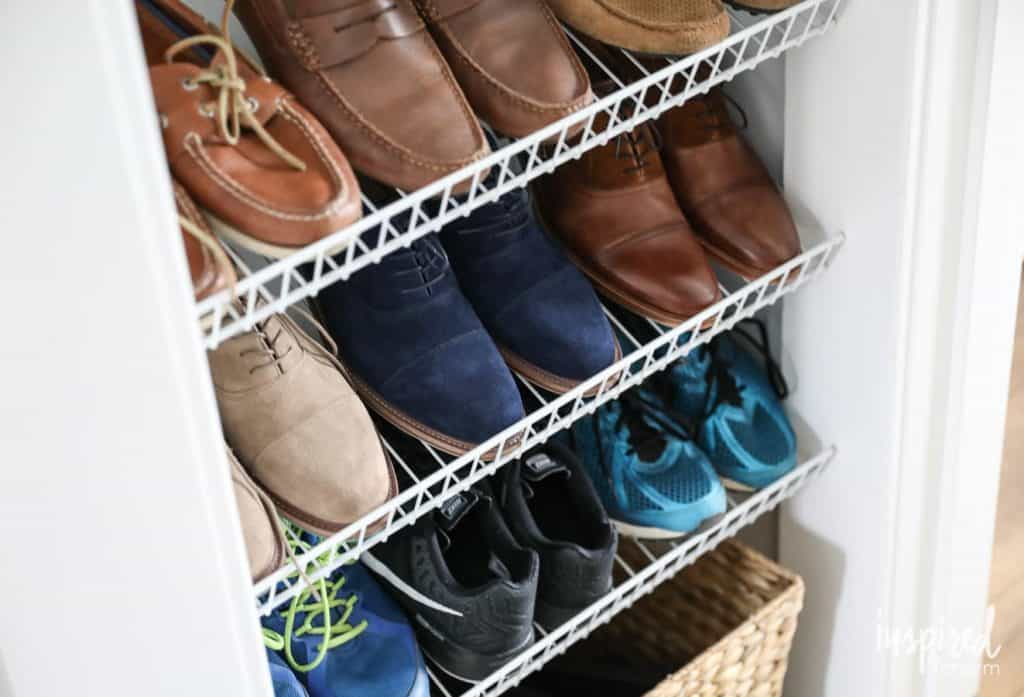 Wire Rack Shoe Storage