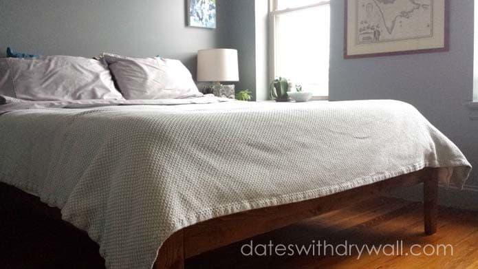 Mid-Century Style Platform Bed