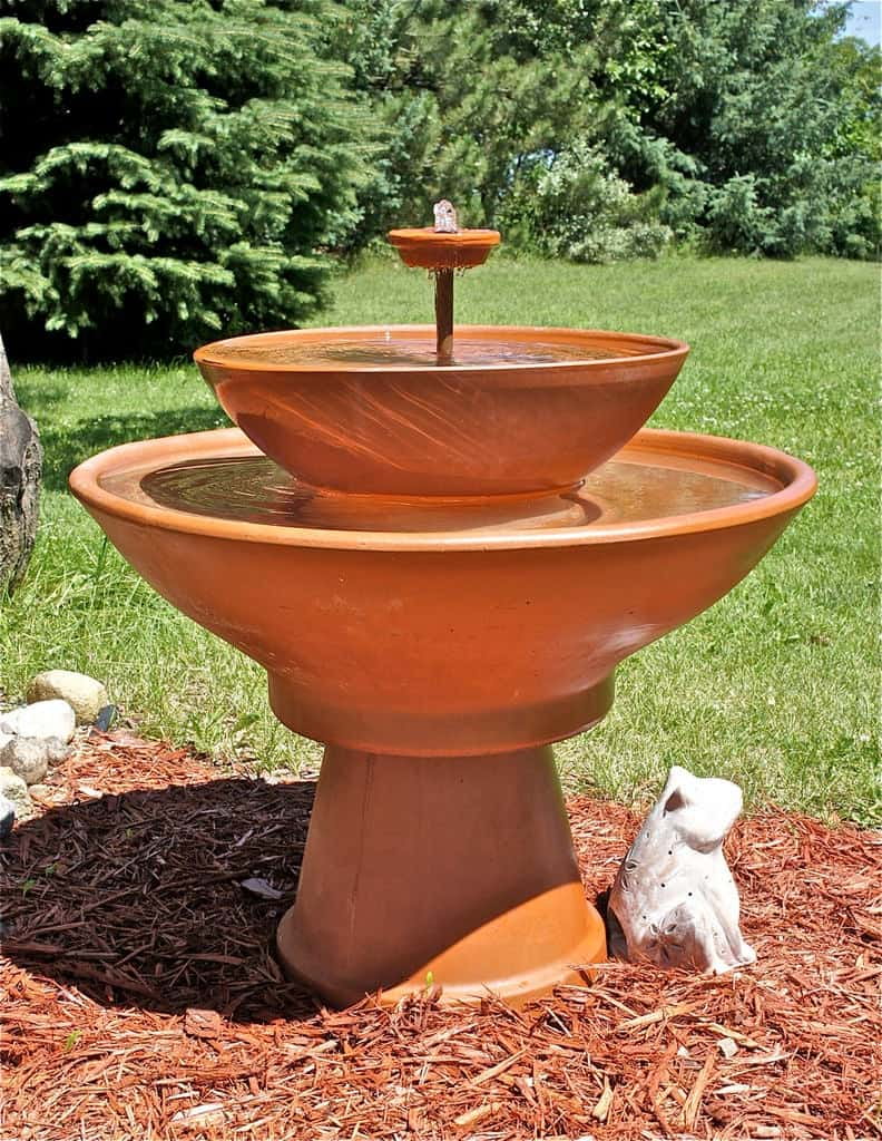 Raised Terra Cotta Pot Fountain