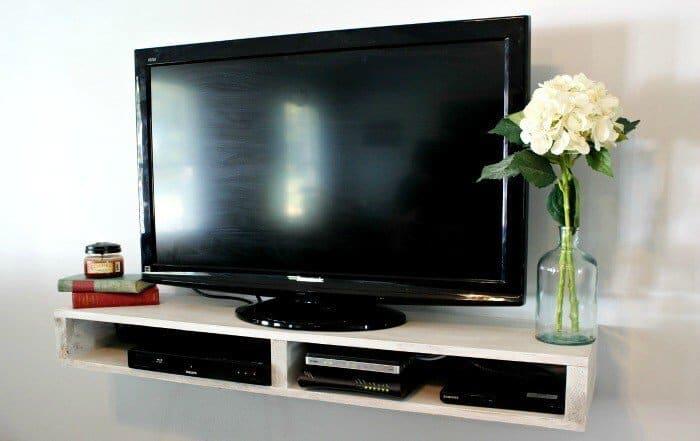 Easy Floating TV Shelf