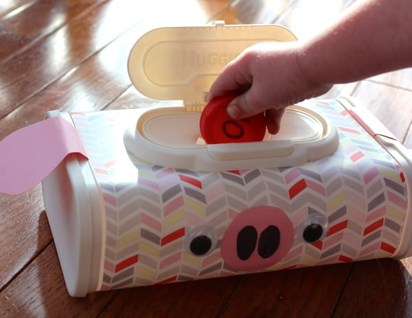Recycled Baby Wipes Container Piggy Bank