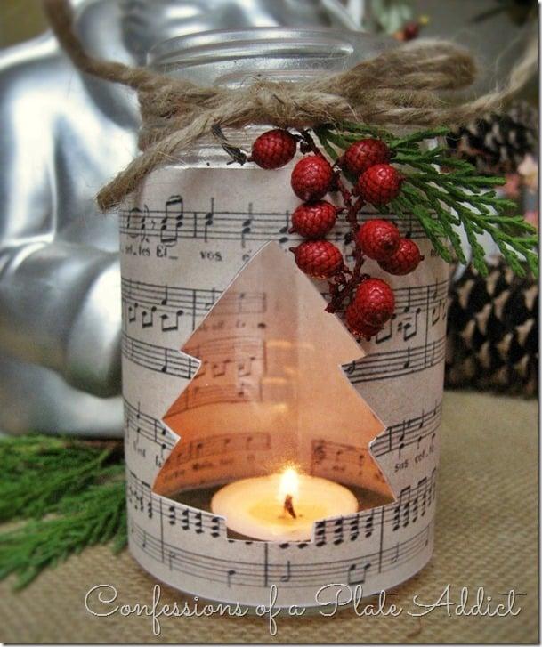 Sheet Music Candleholder