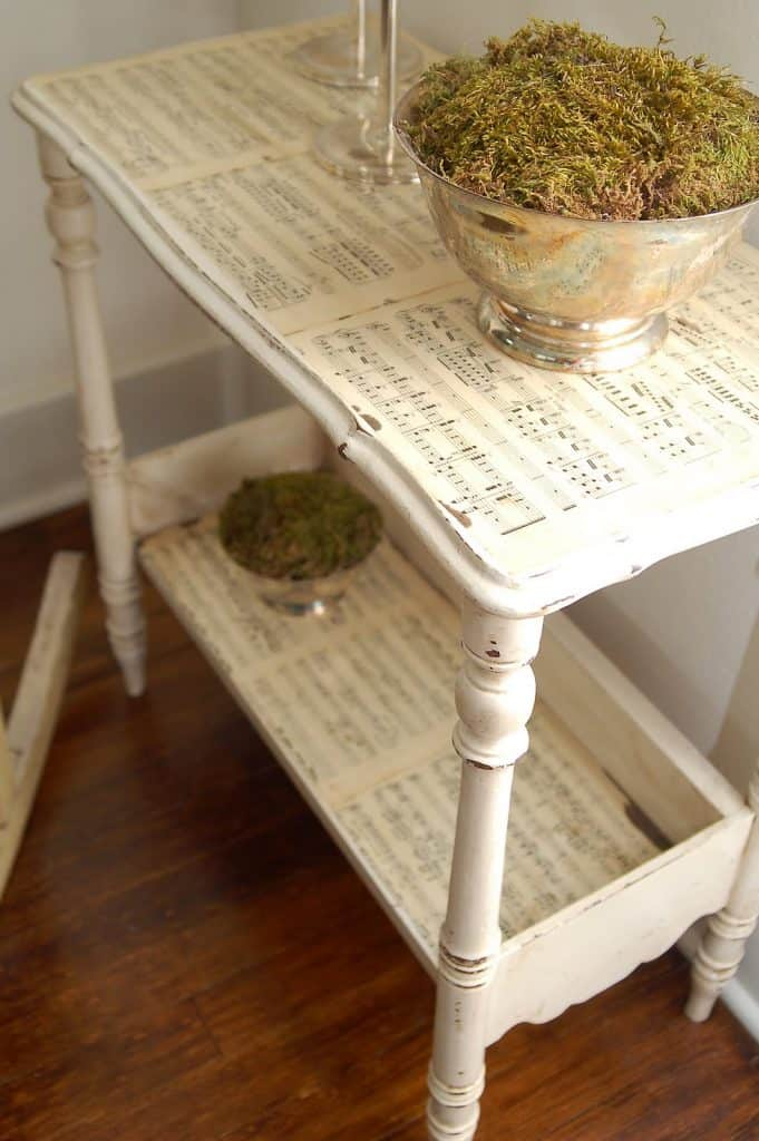Sheet Music Upgrade Side Table