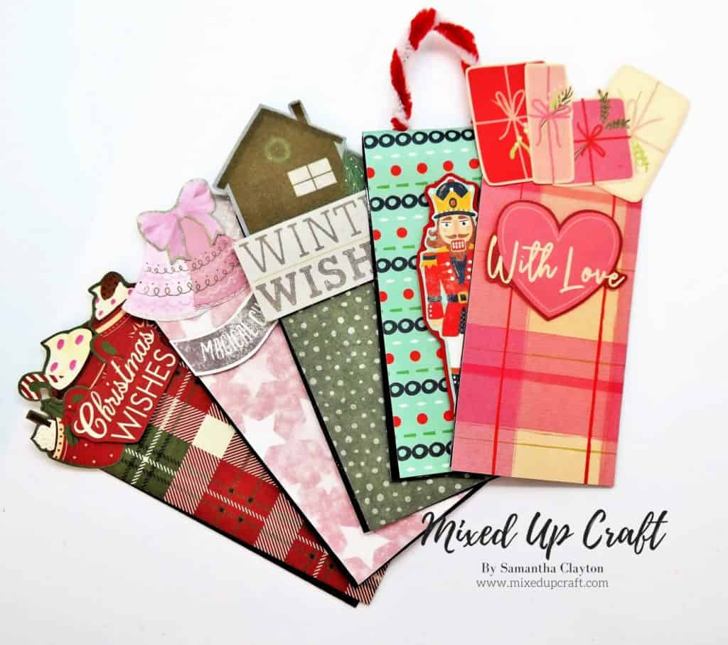 Magnetic Holiday Bookmarks