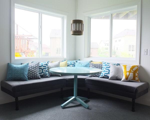 Upholstered Built-In Bench