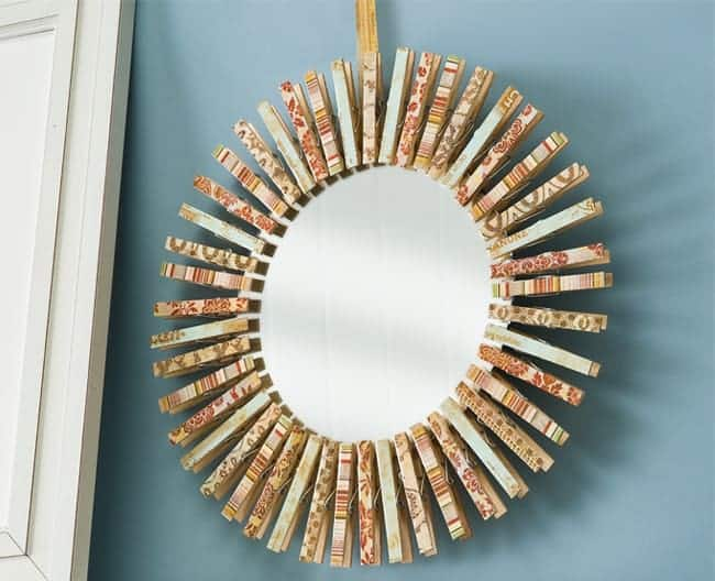 Clothespin Wreath Frame