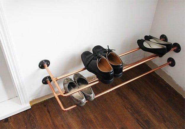 Copper Pipe Shoe Rack