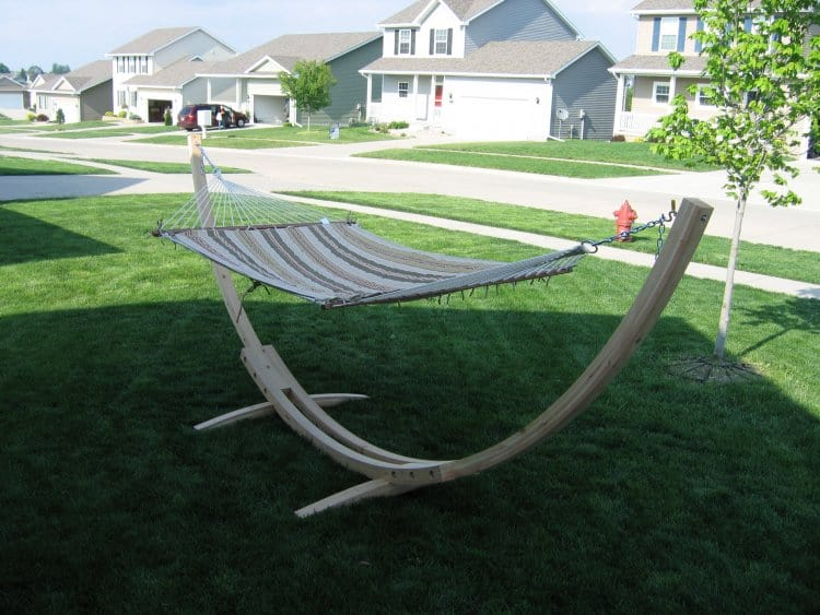 Curved Wood Hammock Stand
