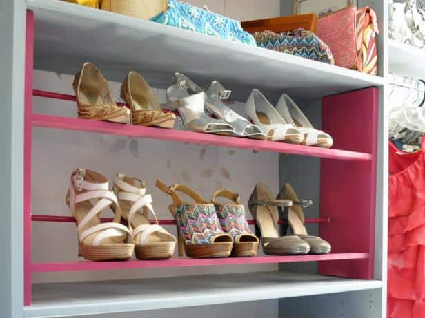 Colorful Shoe Rack