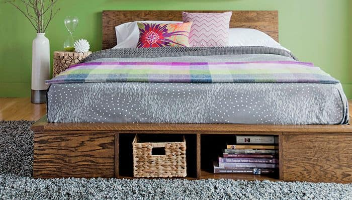 Customizable Platform Bed with Storage
