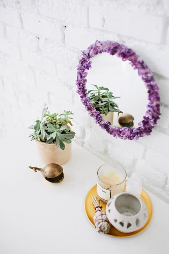 Amethyst Mirror Frame