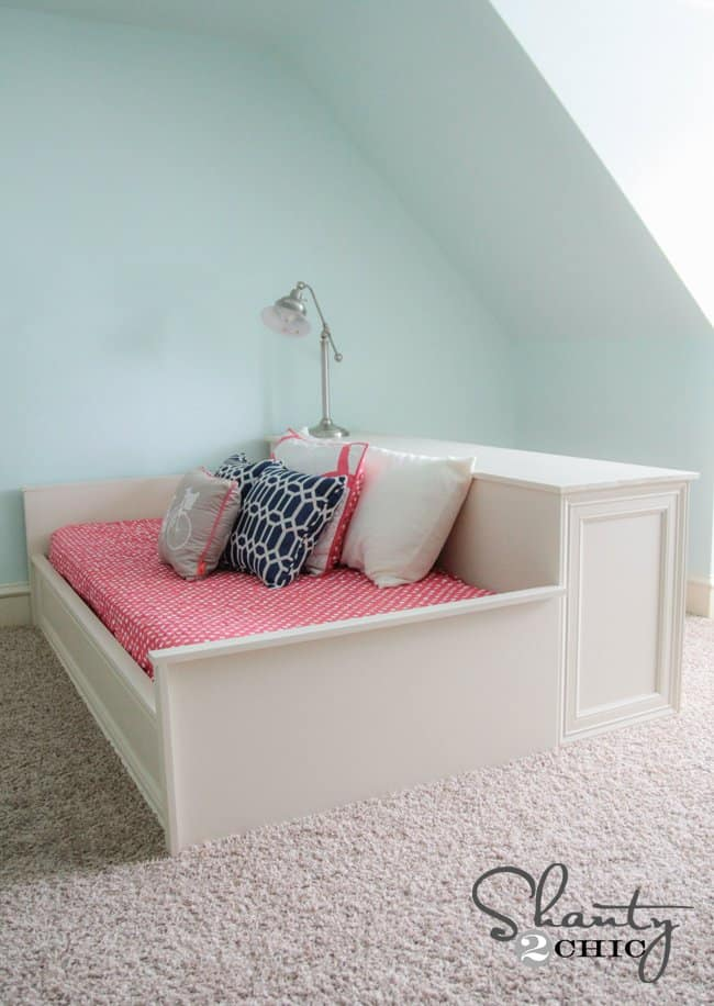 Chic All-in-One Dresser Bed